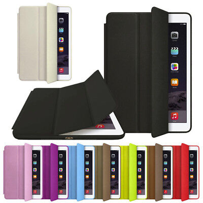 For Apple iPad 2 3 4 5 Air/mini Slim Magnetic Leather Smart Cover Hard Back Case