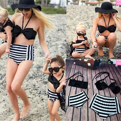 AU Family Matching Women Kids Baby Girl Bikini Set Bathing Swimwear Swimsuit