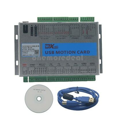 CNC 4 Axis Mach4 USB 2MHz Motion Control Card Breakout Board for Machine Centre