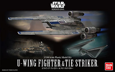 U-Wing Fighter and Tie Striker Bandai Star Wars 1/144 Plastic Model Kit
