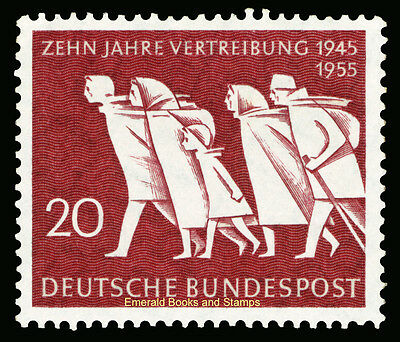 EBS Germany BRD 1955 Expulsion of Germans from East Vertreibung Michel 215 MNH**