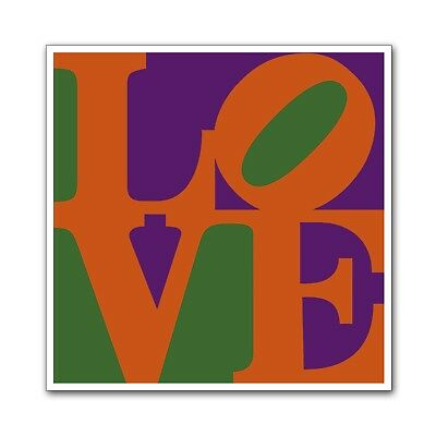 """LOVE Poster Ultra-High Quality Archival Print Indiana Purple & Green 24"""" x  24"""""""