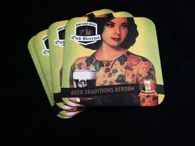 Coaster x4 Collectable St Feuillien Grand Cru Square Belgian Beer Mat