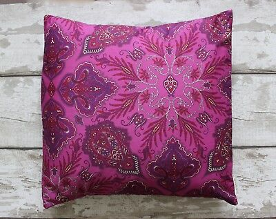 Liberty London Paisley Cushion Cover~Pink/Pillow/Shabby Chic/60s/Retro/Vintage
