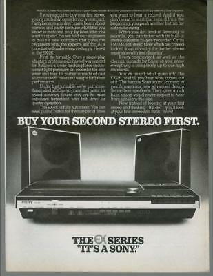 1976 Sony EX-2K Series Stereo Turntable Radio Home Audio Vintage Print Ad 1970s
