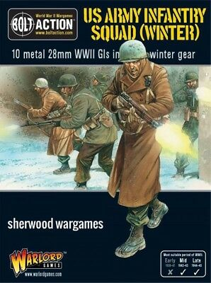 28mm Warlord Games Bolt Action US Infantry Squad In Winter Dress, WWII BNIB
