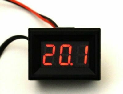 Mini LED Thermometer -30°+150°C klein hell 12V Temperaturanzeige +M8 Fühler rot