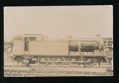 Railway GNR Engine No 124 being oiled c1900/10s? RP PPC by Pouteau