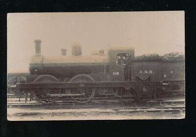 Railway GNR Great Northern Engine No 116 with crew c1900/10s? RP PPC