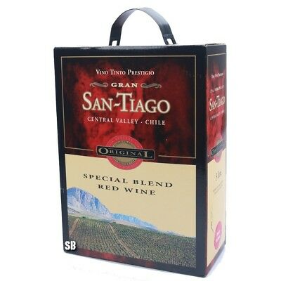 GRAN SAN-TIAGO Spcial Blend Red Rotwein aus Chile 300cl Bag in Box BiB 12,5% vol