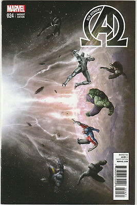 New Avengers #24 NM- 2014 Marvel Comics 1:10 connecting Variant Agustin Alessio