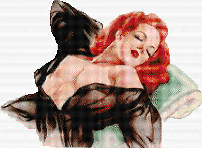Seduction- Pin Up Girl Counted Cross Stitch Kit