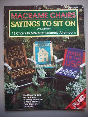 Macrame lawn chairs pattern Sayings to sit on camping cards