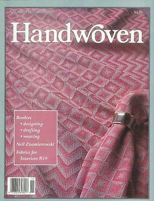 Handwoven magazine nov/dec 1992: moorman, ties, rug, runner