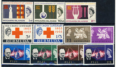 5 complete MNH Commonwealth Omnibus issues, excellent value, must see!!!