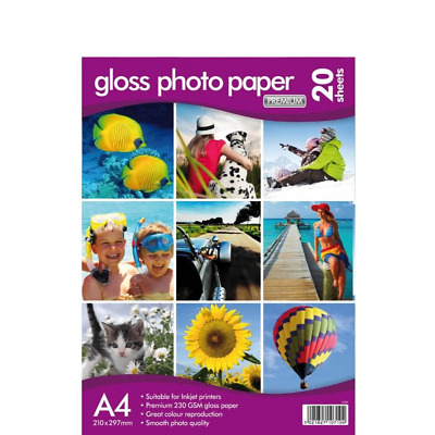 New 10 Sheets A4 Premium Quality 230 GSM Thickness High Gloss Photo Print Paper