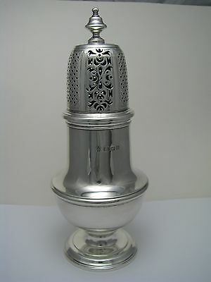SOLID STERLING SILVER SUGAR CASTER MUFFINEER SHAKER Harris & Sons England ca1931