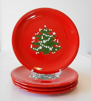 4 Waechtersbach Christmas Tree Dinner Plates 10\  : waechtersbach christmas tree dinner plates - pezcame.com