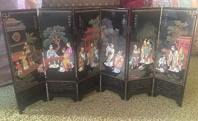 NWT Ancient Collectible Asian Chinese Small Folding Screen