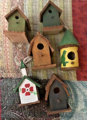 ON'T MISS OUT-Lot of six (6)  Wooden Bird House Feeders- really cute.