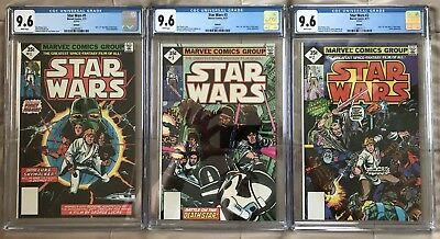 Star Wars #1 #2 & #3 ALL CGC 9.6 NM+ WHITE Pages New Slab RARE 1977 Reprint