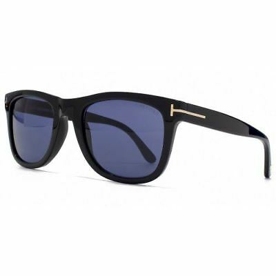 40e9ab3bac1 TOM FORD LEO Sunglasses in Shiny Black Blue -  178.18