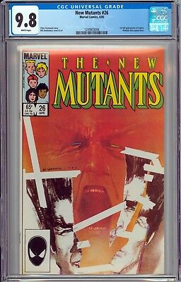 The New Mutants #26 CGC 9.8 NM/MT 1st Full Appearance of Legion WHITE PAGES