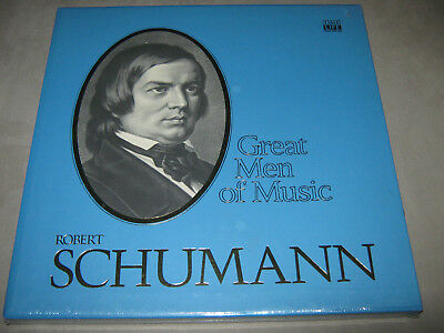 Robert SCHUMANN Great Men of Music SEALED BOX New Vinyl 4 LP Time Life w/Booklet