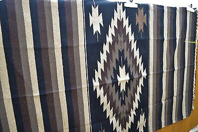 Authentic Mexican Blanket Tribal Diamond XL Handwoven Throw Original Cobija Gift