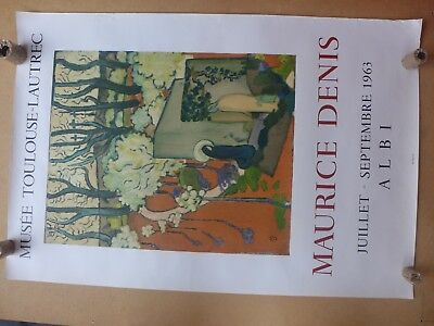 MAURICE DENIS  affiche ancienne 1963  lithographie  MOURLOT