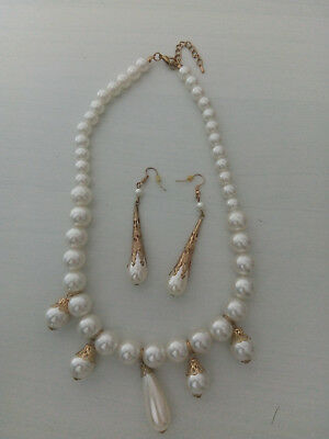 Brand New French 19th century Empire fake pearl matching set