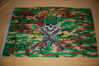 Ranger Camouflage Mess with the best USA Amerika Flagge Fahne 150 x 90 cm