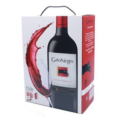Gato Negro Cabernet Sauvignon Chile Rotwein 13,5% vol BiB  Bag in Box BiB 300cl