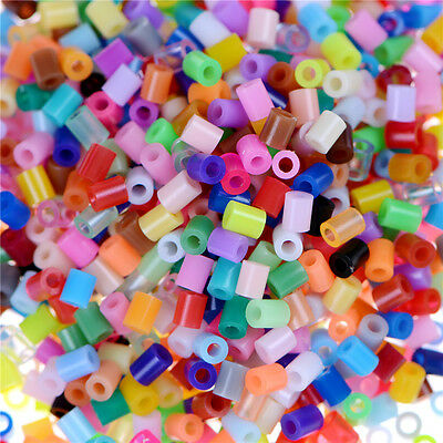 Hot 1000X DIY 2.6mm Mixed Colours HAMA/PERLER Beads for GREAT Kids Fun FO