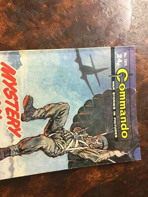 1. very old Commando war comic. 1975 Mystery Man