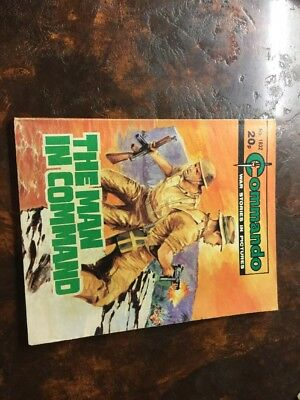 1. very old Commando war comic. 1832 The Man In Command