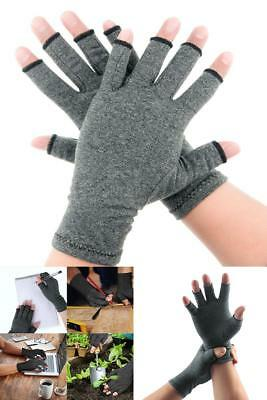 Hands Arthritis Gloves Compression Fingerless For Rheumatoid Joint Pain Relief