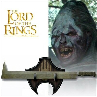 LORD OF THE RINGS Uruk-Hai Scimitar SWORD Carbonsteel with Plaque BRAND NEW