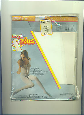 70er Vintage Strumpfhose *sloggi & plus*Gr. 42-44*weiss*Collant*Tights*Panty(159