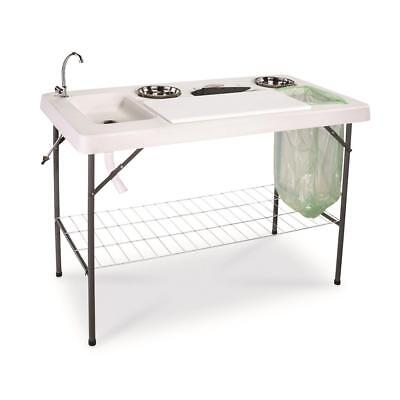 DELUXE FISH Cleaning Camp Table with Flexible Faucet - $129.99 ...