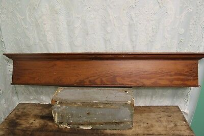 "Antique Salvaged Pine Window Door Header Pediment 46"" X 7 1/4""  #7"