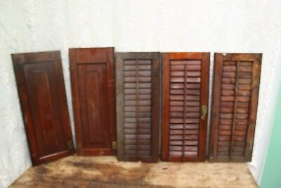 Lot of 5 Antique Vintage Salvage Shabby Wood Shutters