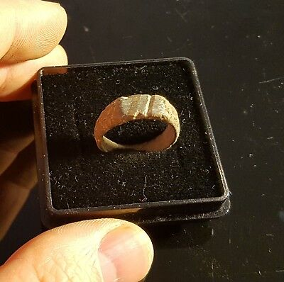 Ancient Late Roman Bronze Ring 300-400 AD - SIZE 17mm         #GY1