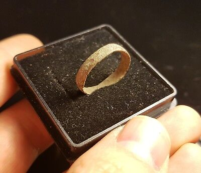 Ancient Late Roman Bronze Ring 300-400 AD -  SIZE: 17mm         #GY9