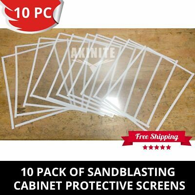 10 Pack of Sandblasting Cabinet Protective Screens For Benchtop Model