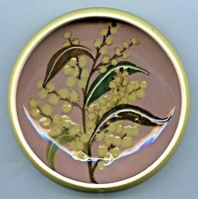 1950's Australian Pottery Hand Painted Martin Boyd 11.2 Cm Wattle Small Bowl C42