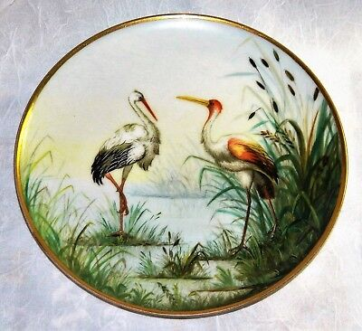~ HAVILAND LIMOGES Cabinet PLATE FRANCE c1882 Scarce HAND PAINTED 'H & Co. L' ~