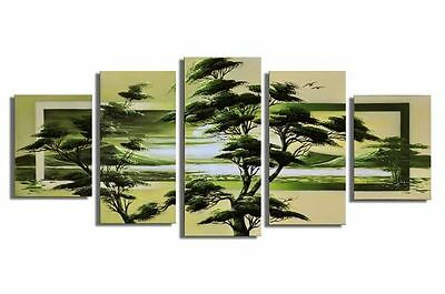 Hand-painted Large Contemporary Wall Art Landscape oil Painting Canvas Framed 24