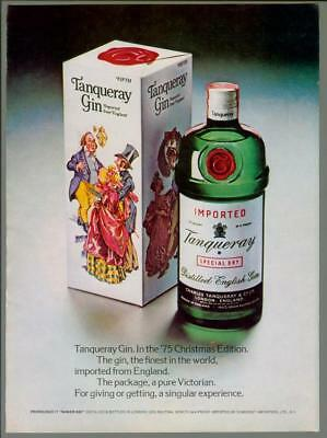 1976 Tanqueray Special Dry English Gin 75 Christmas Holiday Vintage Print Ad 70s