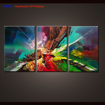 Large Framed Wall Art MODERN ABSTRACT OIL PAINTING Canvas Contemporary Decor D57